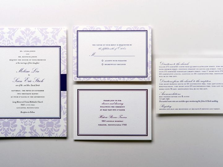 Tmx 1416270423180 Gallery2 Lancaster wedding invitation