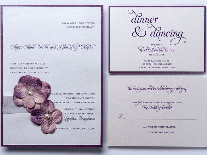 Tmx 1416270445653 Gallery5 Lancaster wedding invitation