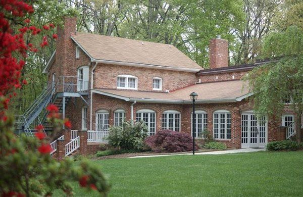 The Rockwood Manor House built in 1920 is set in 30 acres of woodlands in Potomac, Maryland.
