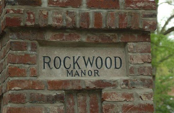 The stately entrance to Rockwood Manor.