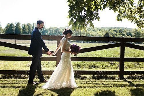 Andrew & Nole go for a post-ceremony walk on the grounds of Woodlawn Park.  Photo by Punam Bean.