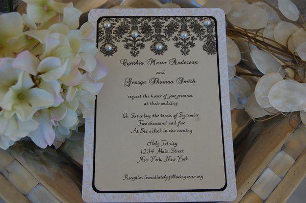 Tmx 1295993285917 PearlLace Bradenton wedding invitation