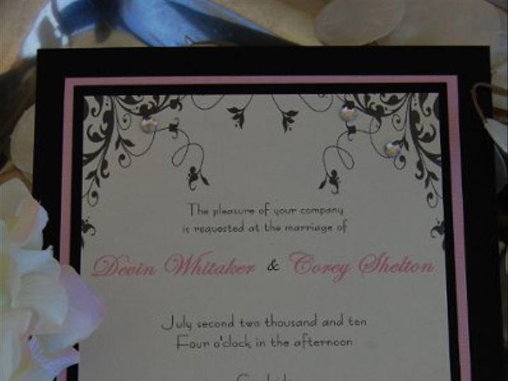 Tmx 1295993308683 RhinestoneVines Bradenton wedding invitation