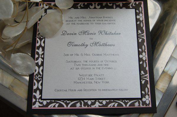 Tmx 1295993318511 RoseBorderSquare Bradenton wedding invitation