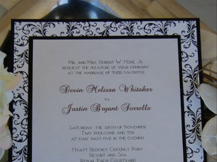 Tmx 1295993327933 WatercolorFlowers Bradenton wedding invitation