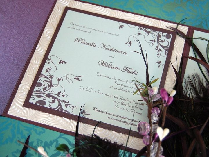 Tmx 1345493136717 DSC0420 Bradenton wedding invitation