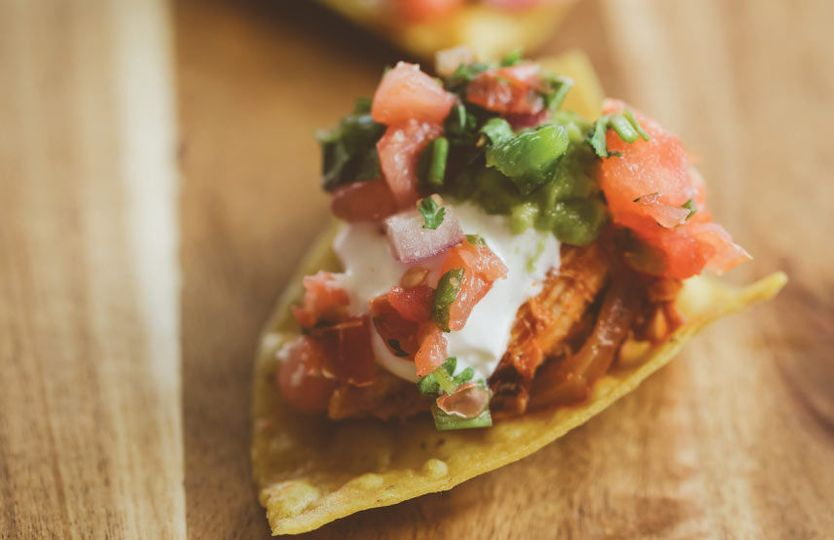 Taco with tomatoes