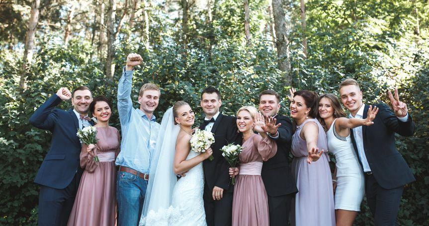 Bride & groom friends