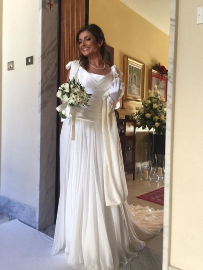 Elegant wedding bride dress