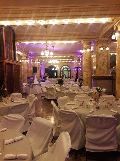 Wedding cereption area