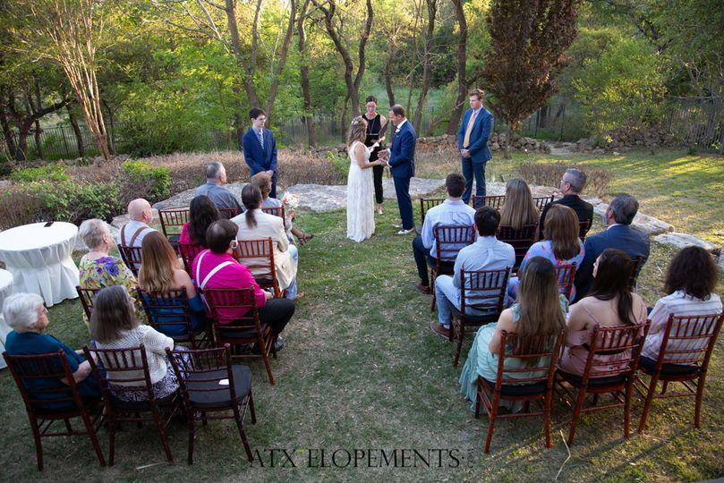 Back yard ceremony