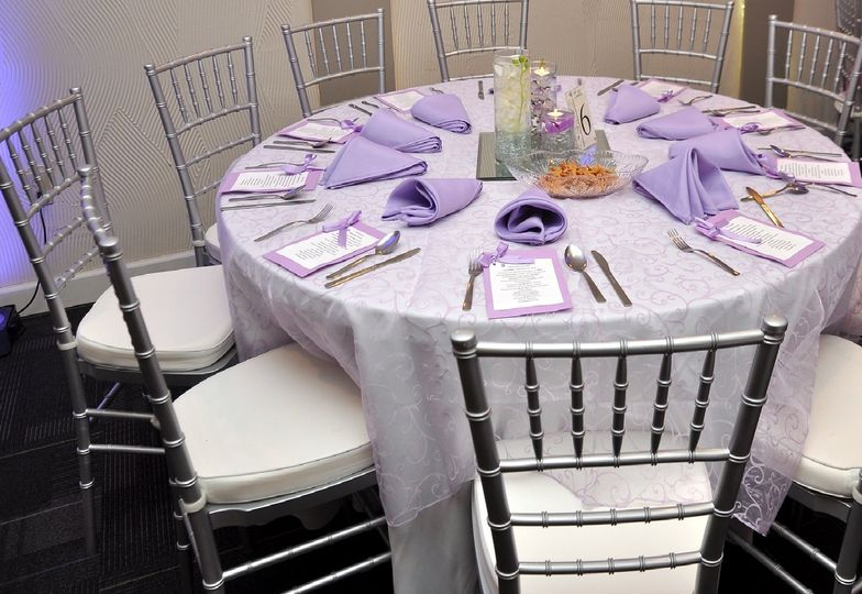 Purple & Silver Decor