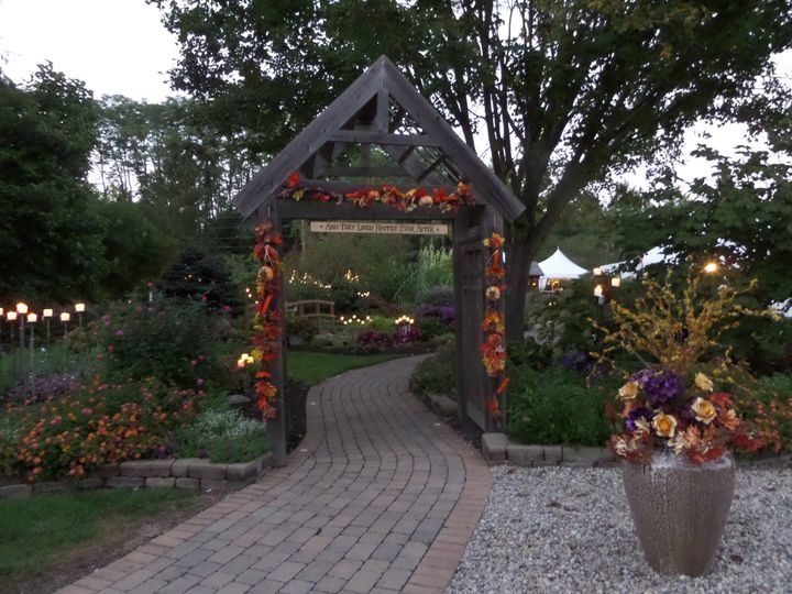 front path entrance fall decoration