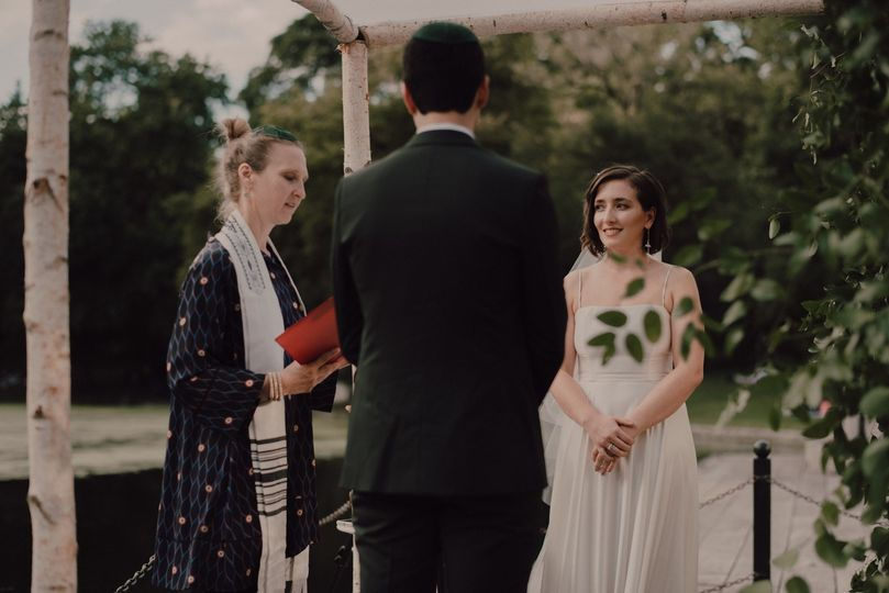 Chuppah by the lake