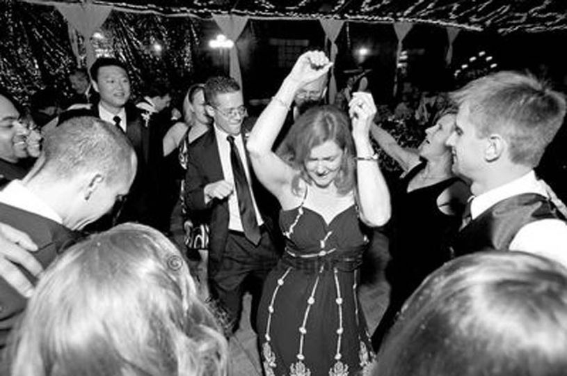 The girl dancing