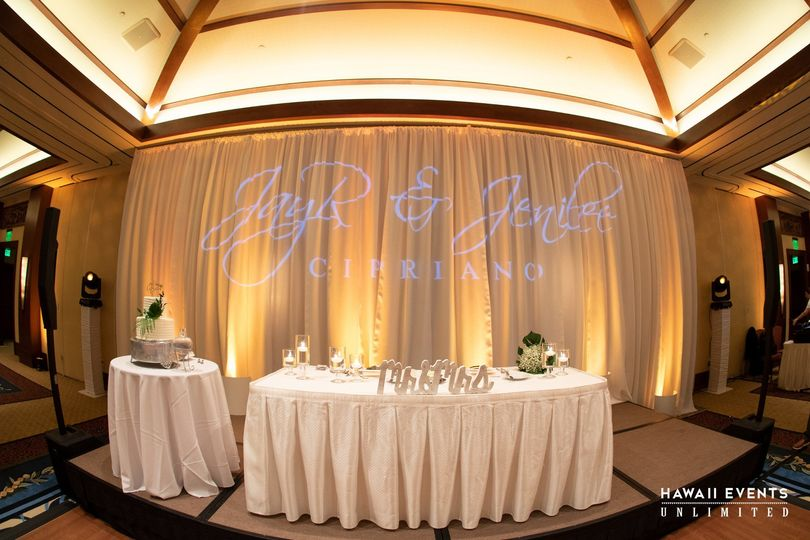 Uplighting & Monogram