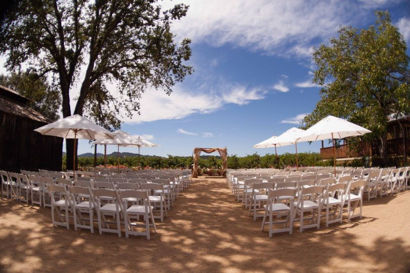 The Barn Courtyard, one of the outdoor ceremony locations.  Our historic Barn from 1869 is on your...