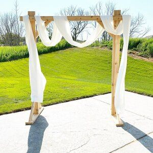 Wooden Arch & Drapery