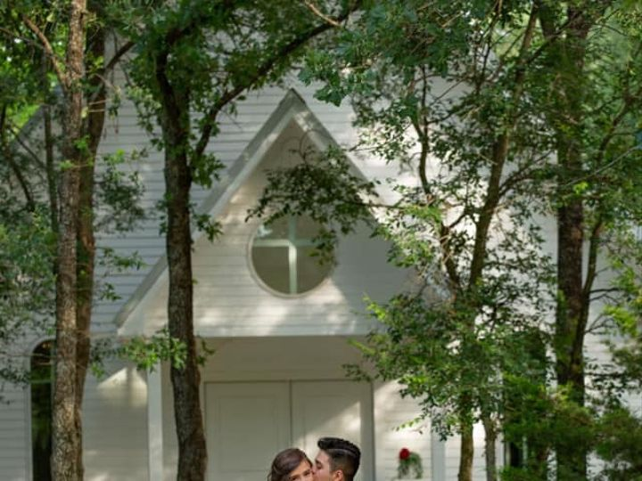 Tmx B G In Front Of Chapel Copy 51 1780701 160687644955446 Decatur, TX wedding venue