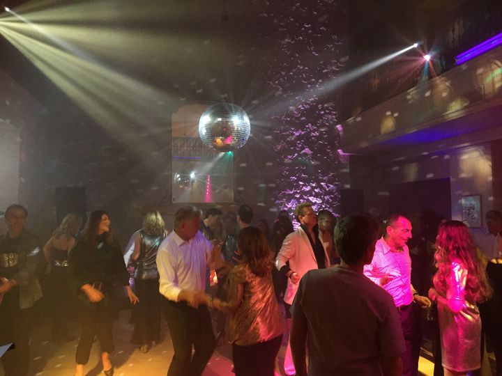 Disco ball and moving heads