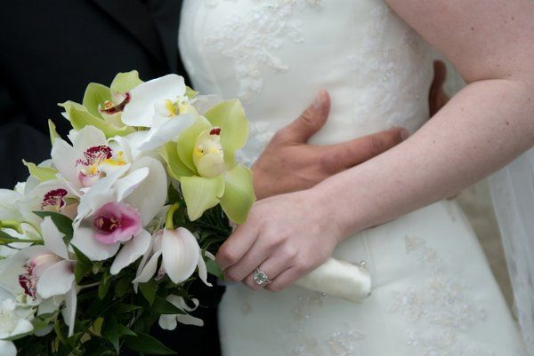 Bouquet and wedding ring