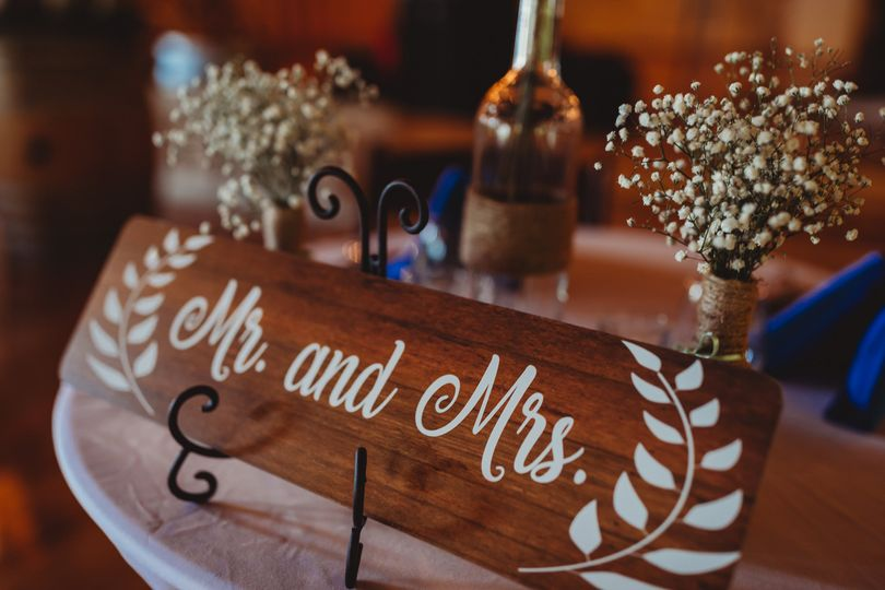 Rustic Mr. and Mrs. sign