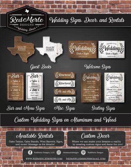 Wedding sign flyer