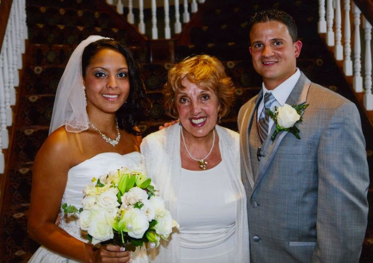 The officiant with clients