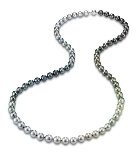 "$3,000.00 We call this 24"" pearl strand - ""Ombre"" After the hair style of layering colors."
