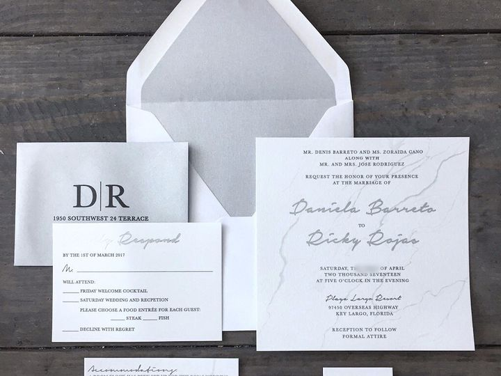 Tmx 244f1c C467f366ddec4e2eb684d609a50f247cmv2 51 1607701 158653431330399 Miami, FL wedding invitation