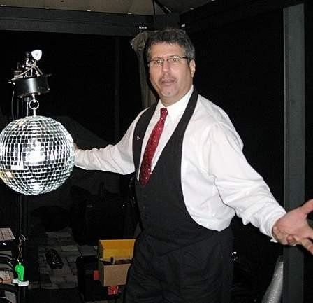"DJ/MC Jeffrey Evan Mufson - ""Who put this MIRROR BALL here?"""