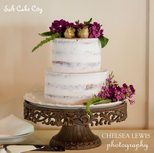 semi naked rustic wedding cake 2
