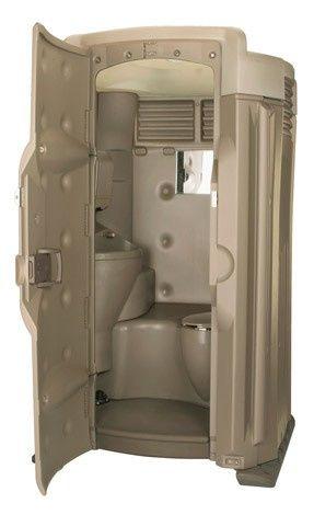 Luxurious portable toilet
