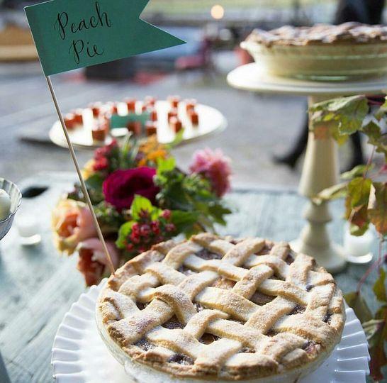 Large peach pie