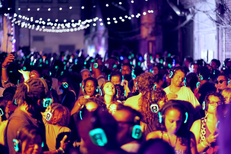 silent disco outdoors