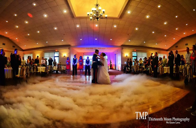 One of the cool things about your first dance being on a cloud is how the cloud is constantly moving...