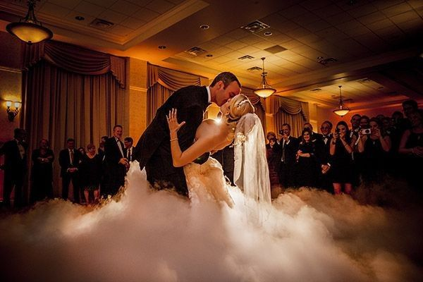 I can create a cloud of light for your first dance! It is from dry ice, so it is no odor, completely...
