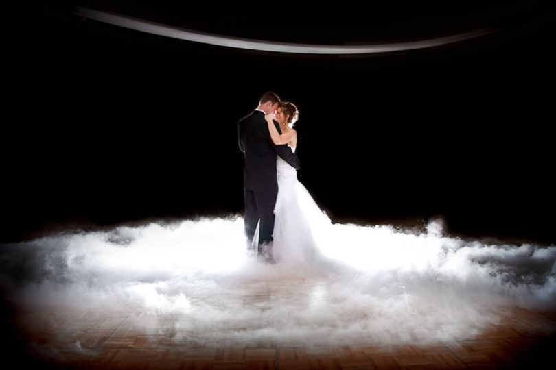 If you want your first dance to be on a cloud, I supply the dry ice cloud maker. It is the coolest...