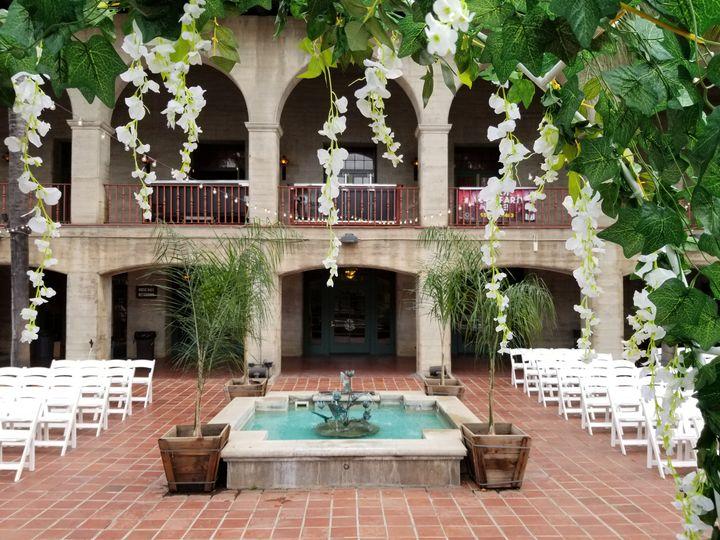 RMA courtyard wedding