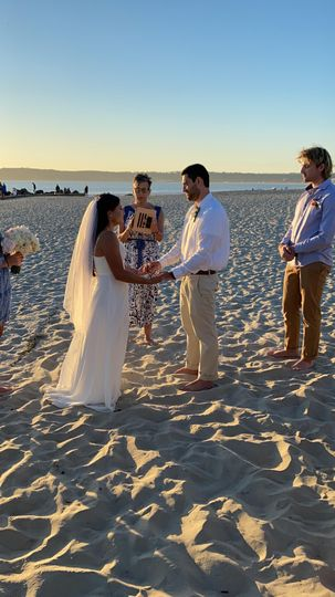 Officiating a beach Elopement