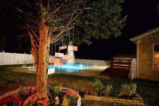 Pool area reception space