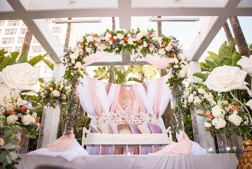 Mandap for ceremony