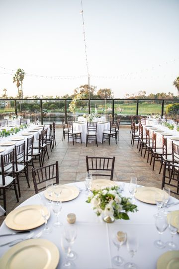 Chairs, linens, and chargers
