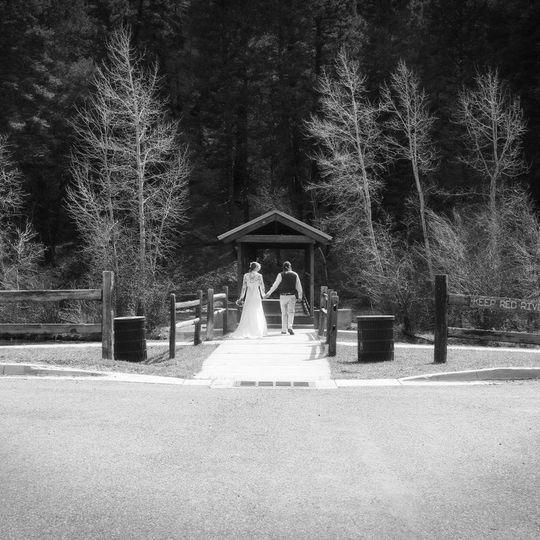 Covered bridge ceremony site