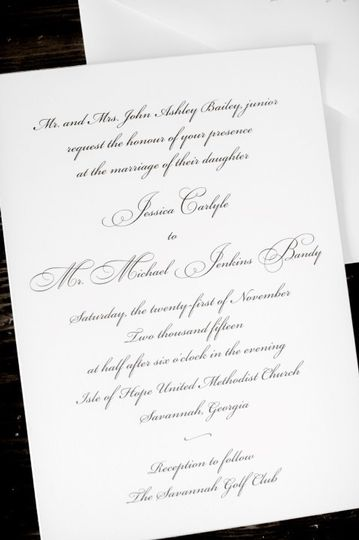 Wedding & Reception Invite
