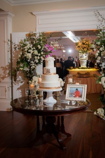 Sophisticated cake table