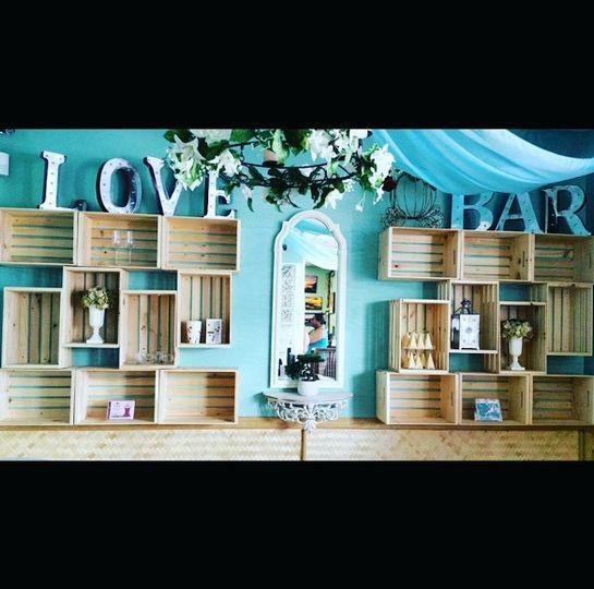 photo bridal bar celebrations love bar wall