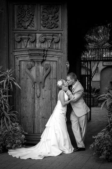 Sedona wedding black and white