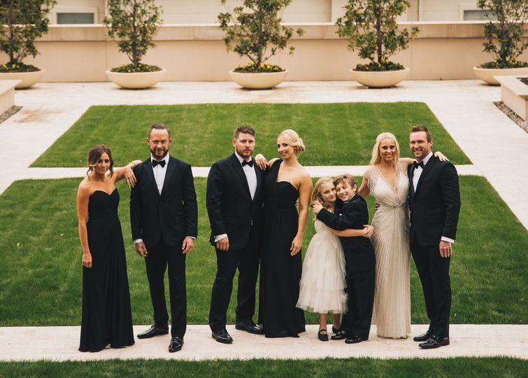 Dallas wedding party