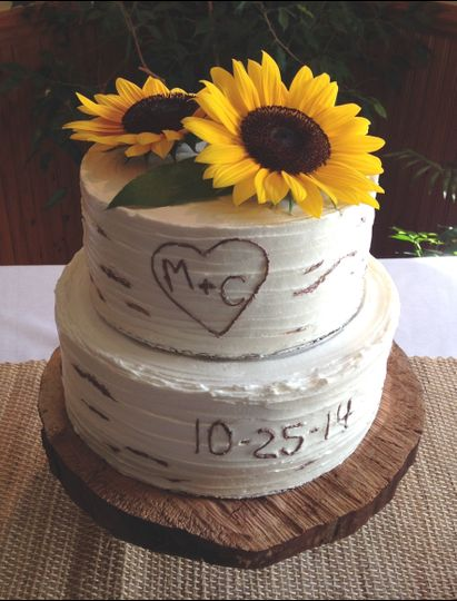 A Rustic Inspired Bridal Shower Cake.